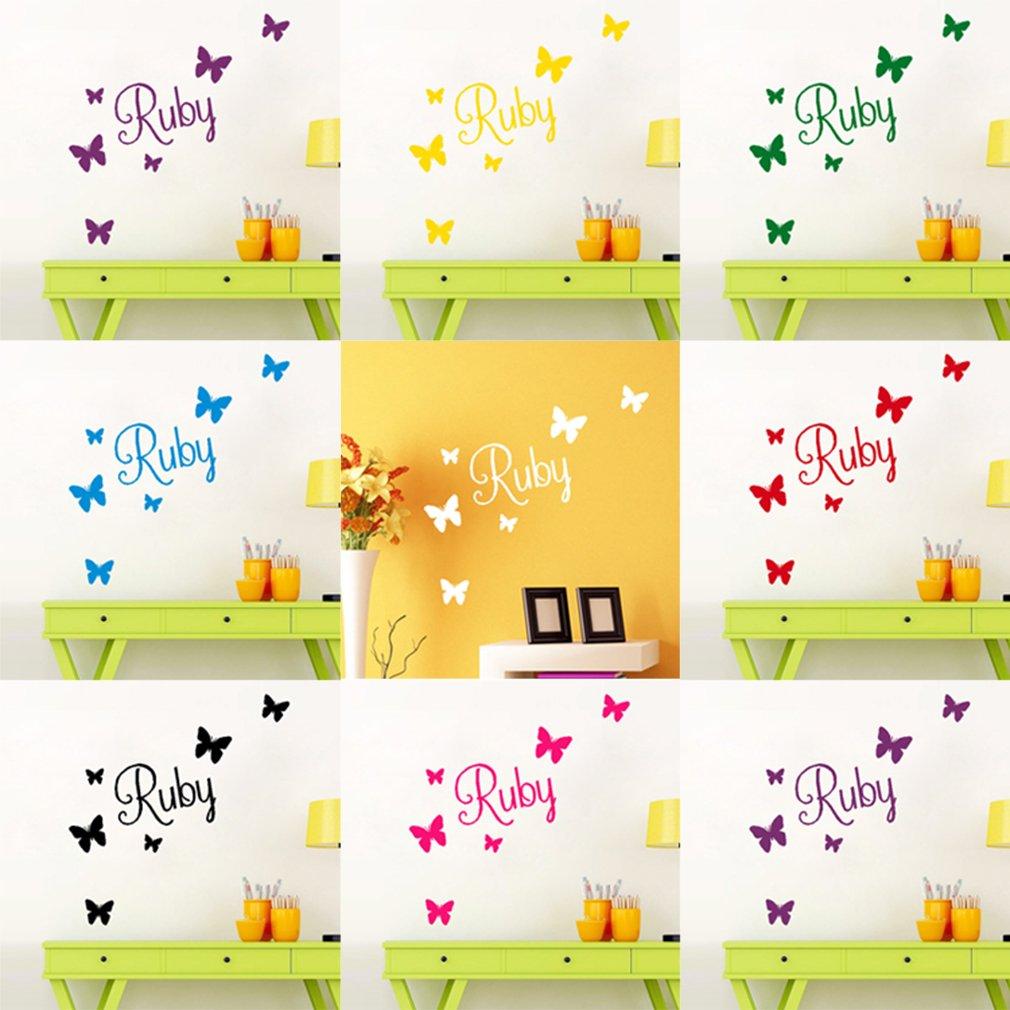 UK SALE Butterfly Wall Art Custom Girls Bedroom Vinyl Kids Sticker ...